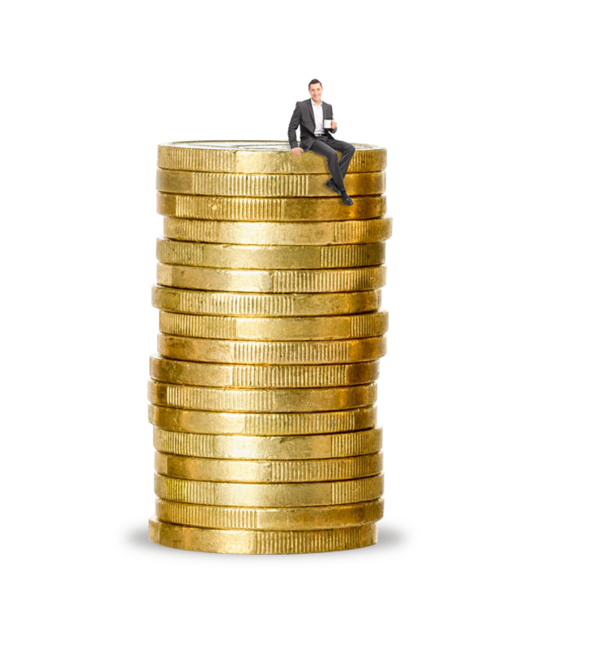 a giant stack of coins